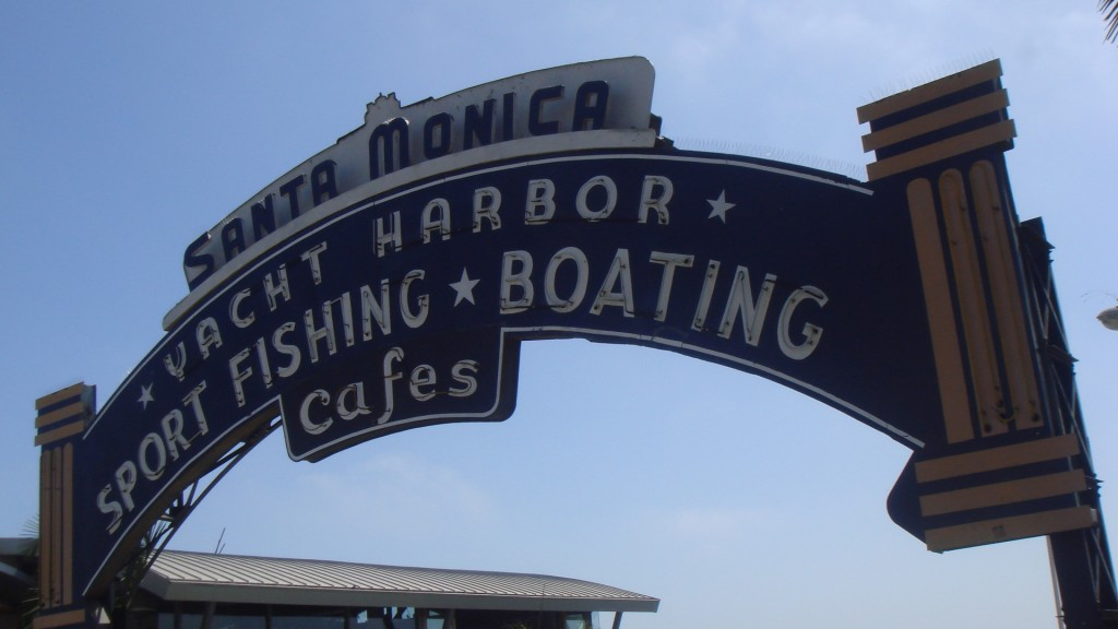 santa moncia pier sign 3 1024x576 #2 Things To Do in Santa Monica   Stroll Down the Pier