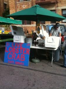 IMG 0452 225x300 Santa Monica Farmers Market has a new treat   Live Lobster!