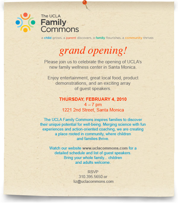 image UCLA Family Commons Grand Opening