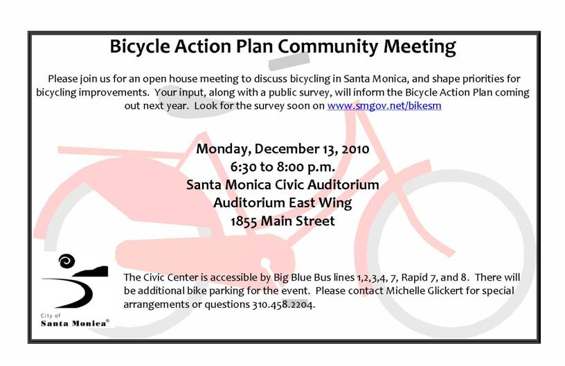 image001 Do You Bike in Santa Monica?  Bicycle Action Plan Community Meeting on Dec 13th